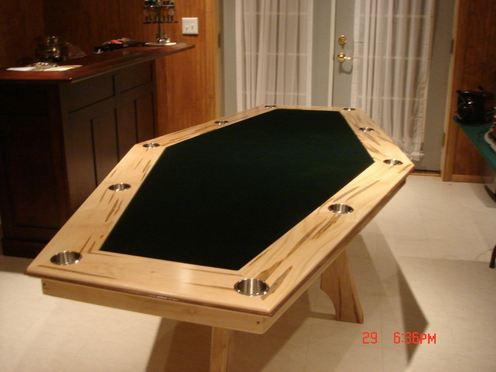 Custom Sided Maple Game Table By Harman Wood Design CustomMadecom - Cheap board game table