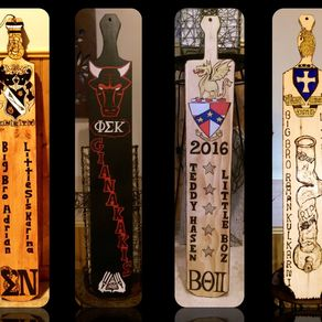 Custom Made Fraternity Paddle Carving By Queen Of All