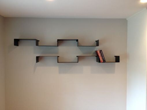 Custom Made Floating Folded Steel Shelves