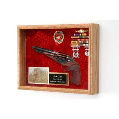 Custom Made Pistol Display Case, Pistol Shadow Box