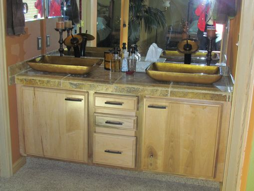 Custom Made Custom Maple Double Vanity