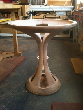 Custom Made Contemporary Pedestal Table