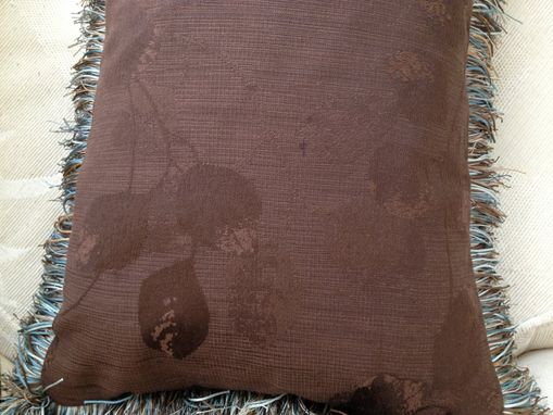 Custom Made Chocolate Brown Jacquard Pillow Cover