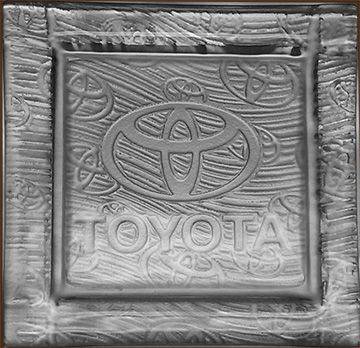 Custom Made Toyota Glass Plate