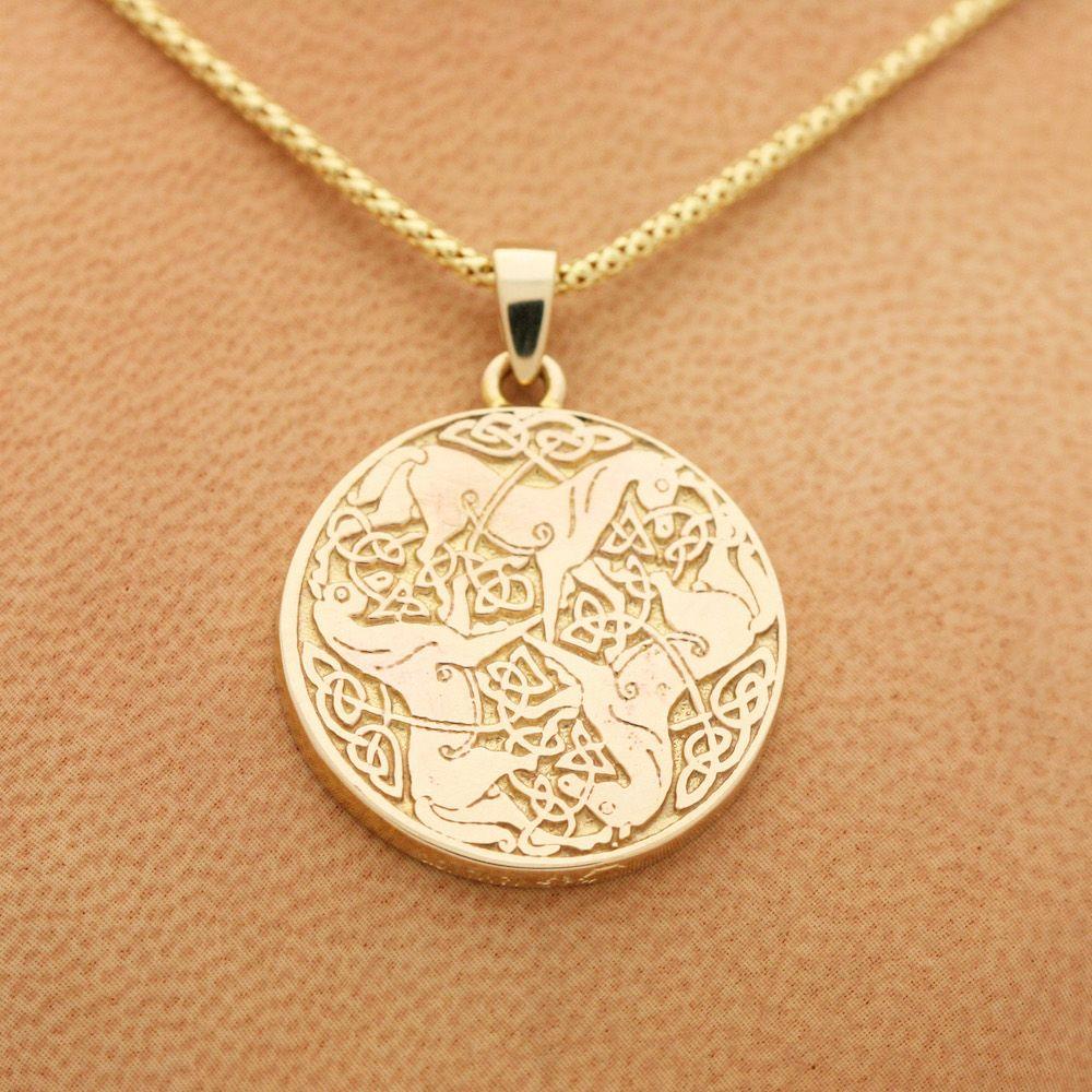 Custom made gold celtic horse pendant by mava style custommade custom made gold celtic horse pendant aloadofball Images