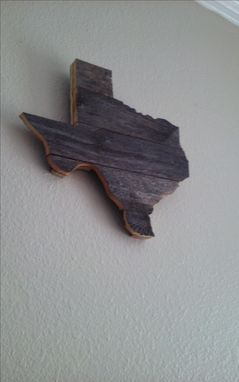 Custom Made Rustic Fence Wood Texas Sign