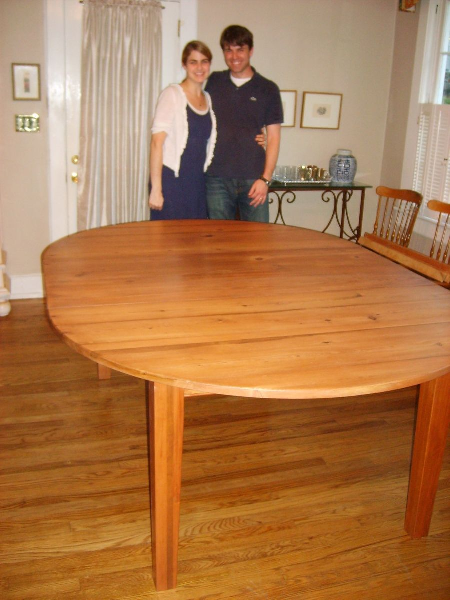 Custom Made Heart Pine Extension Table