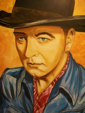 Custom Made Acrylic On Board Portrait For A Mural: Cowboys 4