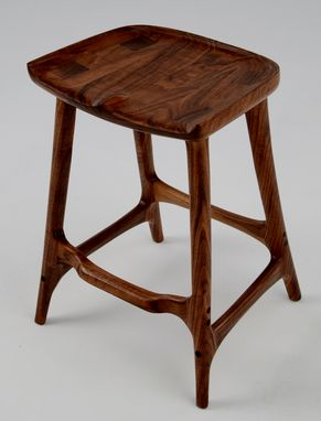 Custom Made Figured Walnut Bar Stool