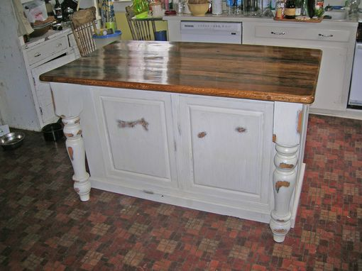 Custom Made Antiqued Kitchen Island