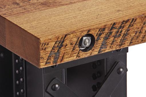 Custom Made Hot Riveted Railroad Bridge Desk