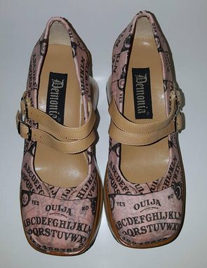 Custom Made Ouija Platform Mary Janes, Size 8