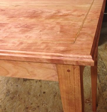 Custom Made Writing Desk Cherry With Oak Inlay