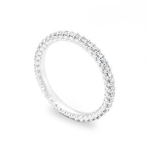 Custom Made Diamond Eternity Ring In 14k White Gold,  Forever Ring, Love Ring