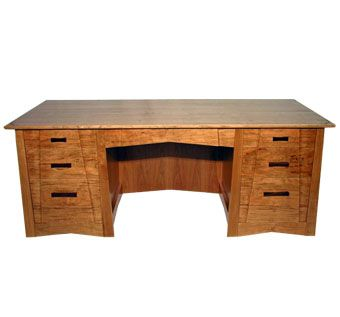 Custom Made Cherry Arts-And-Crafts Style Desk