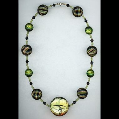 Custom Made Augustine Peridot & Glass Necklace