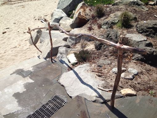 Custom Made Organic Driftwood Bronze Handrail Railing