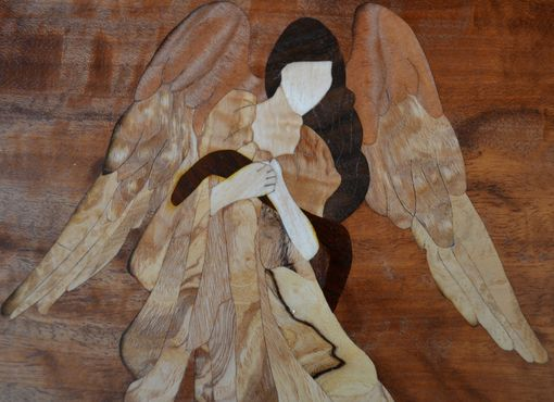 Custom Made Jewelry/Keepsake Boxes With Angel Marquetry Inlay