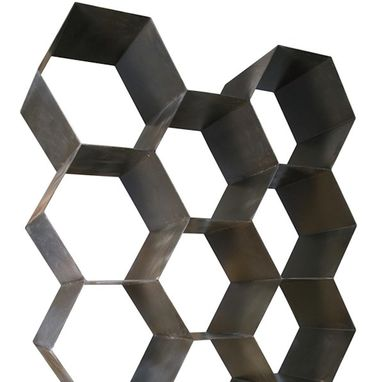 Custom Made Honeycomb Large Metal Bookcase