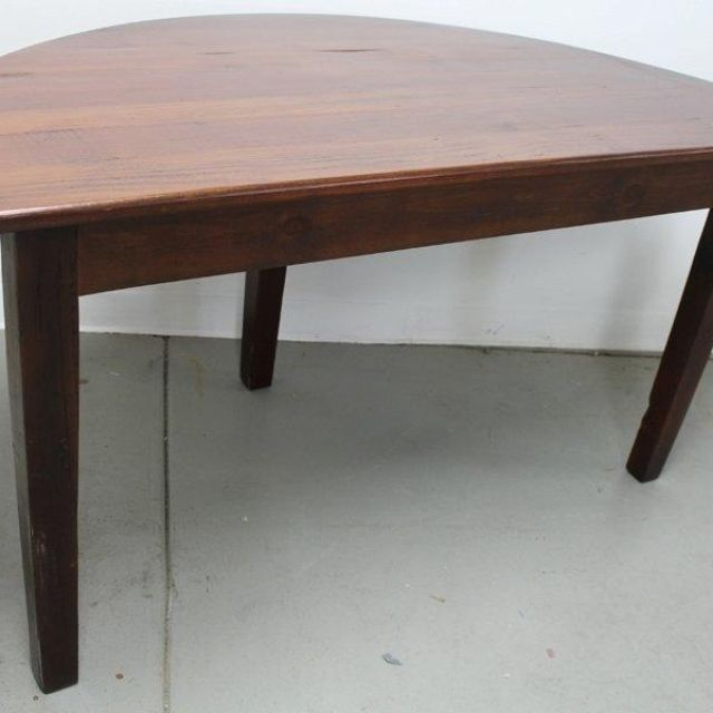 Custom Made Small Half Circle Dining Table By Ecustomfinishes Reclaimed Wood Furniture Custommade