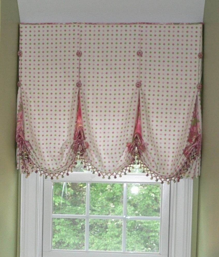 Hand made balloon shade with accented inverted pleat by caty s cribs custommade com