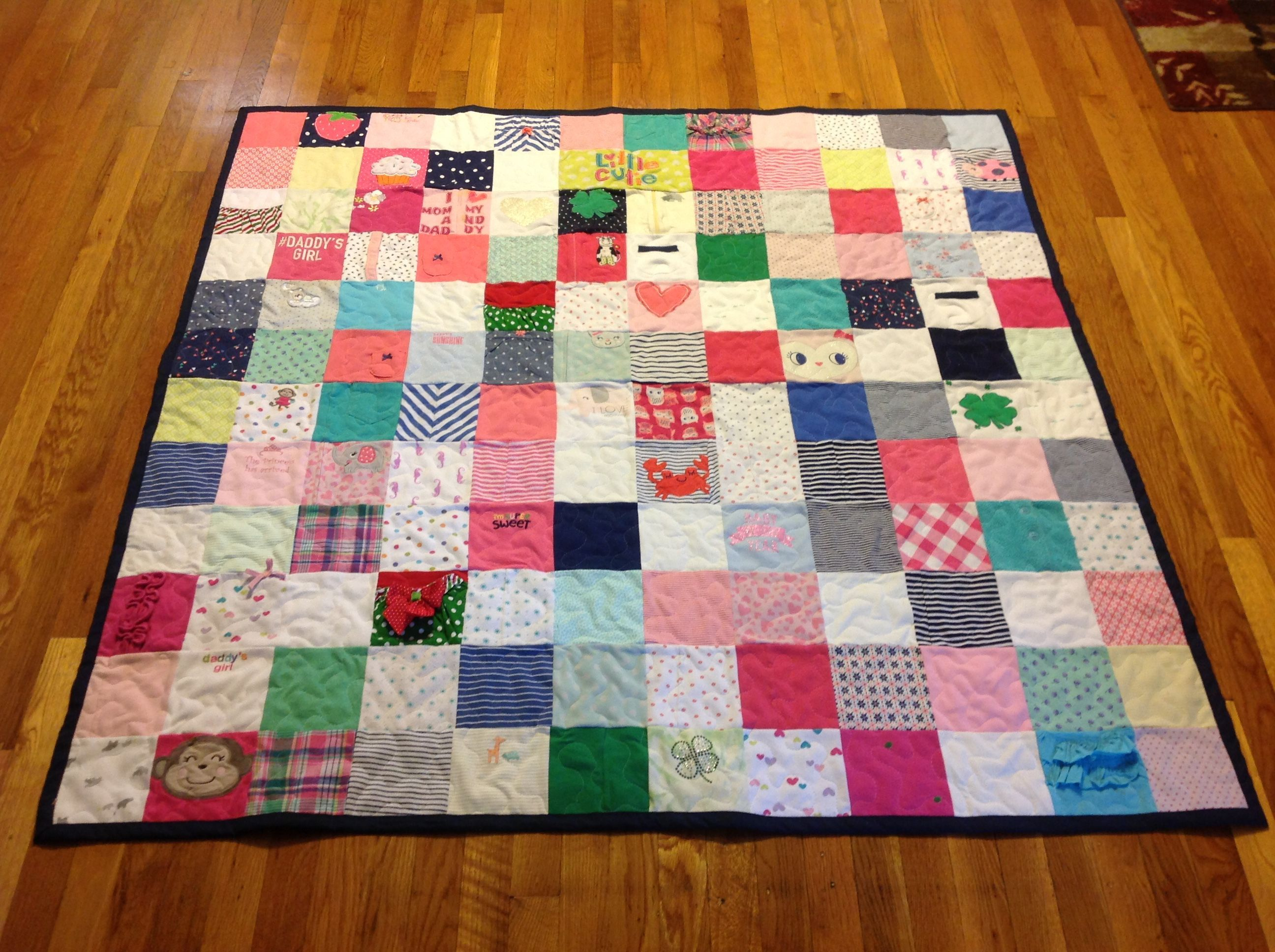 Buy A Handmade Custom Baby Clothing Memory Quilt Made To Order From