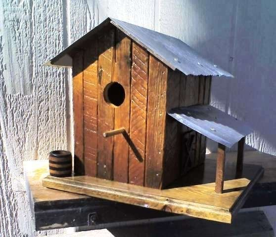 Hand made tobacco barn birdhouses by for the birds for Tobacco barn house plans