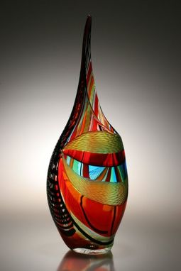 Custom Made Murano Art Glass Vase By Afro Celotto