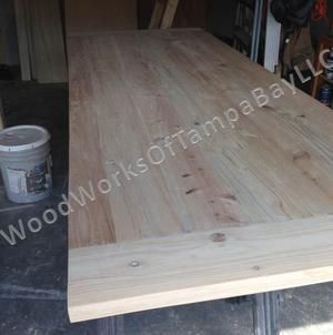 Custom Made Custom Made Cypress Table With Breadboards