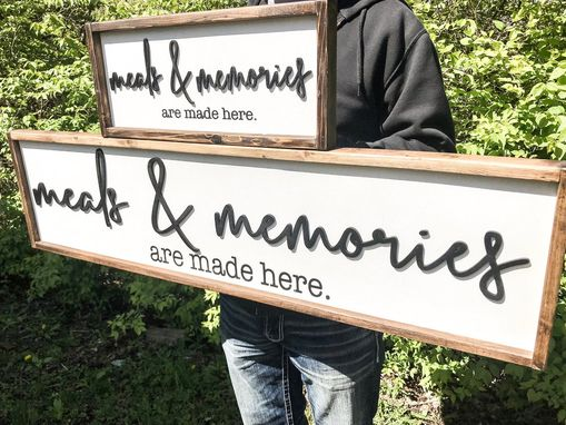 Custom Made Meals And Memories Are Made Here Sign Wood Meals