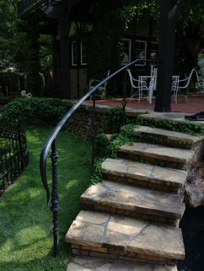 Custom Made Curved Steel Step Railing
