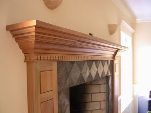 Custom Made Custom Mantle In Antique Cypress