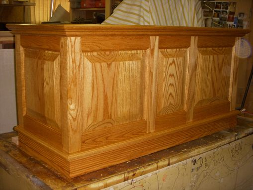 Custom Made Oak Cedar Chest
