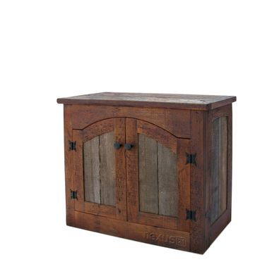 Custom Made Rustic Tv Lift Cabinet - Small