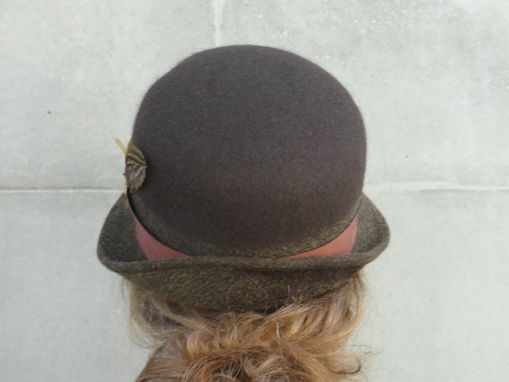 ... Custom Made Women s Wool Felt Bowler Derby Hat-Custom Design Ladies Hat- Custom ... 237d67e7fbf8