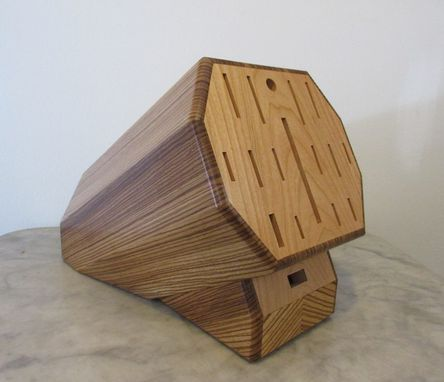 Custom Made Custom Zebrawood Knife Block