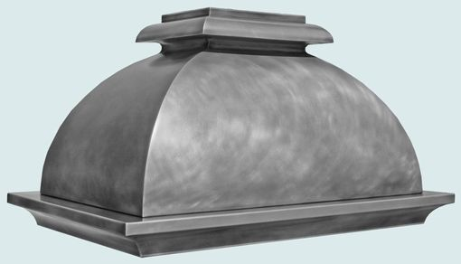 Custom Made Zinc Range Hood With Bell Shape