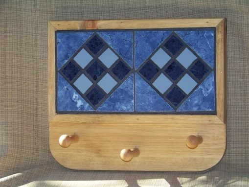 Custom Made Coat Rack - Set In Blues