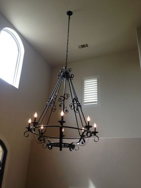 Custom Made Iron Chandelier Light Fixture
