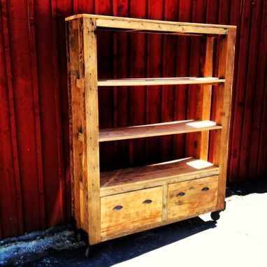 Custom Made Wooden Cart On Casters