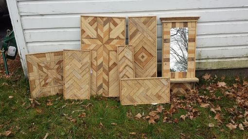 Custom Made Custom Made Reclaimed Lath Wall Hanging, Wall Art, Made With Over 100 Year Old Lath