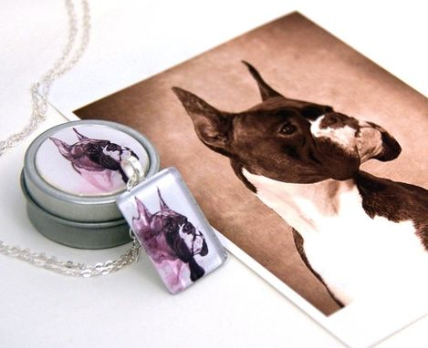 Custom Made Custom Pet Portrait Pendant Charm Necklace