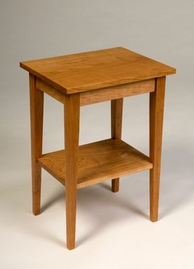 Custom Made Cherry Occasional Table With Shelf.
