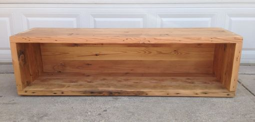 Custom Made Reclaimed Storage Bench
