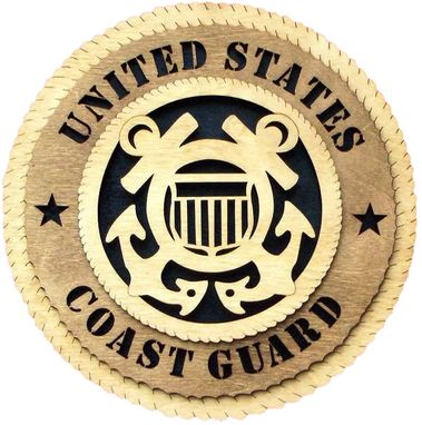 Custom Made Coast Guard Wall Tribute, Coast Guard Hand Made Gift