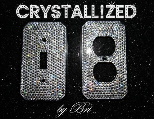 Custom Made Crystallized Switch Plate Cover Made With Swarovski Crystals - Choose Toggle, Rocker, Outlet