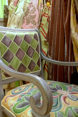 Custom Made Hand Painted Dining Chairs