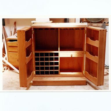 Custom Made Fold Out Liquor Cabinet