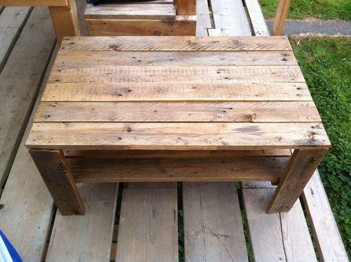 Custom Wooden Slat Coffee Table By J Amp S Reclaimed Wood