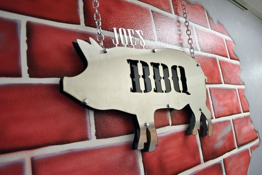 Custom Made Bbq Pig Sign